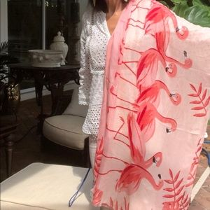 KATE SPADE flamingo scarf